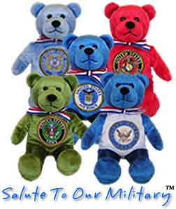 Beary Thoughtful Salute To Our Military Fundraising Bears